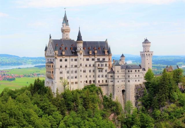 ノイシュバンシュタイン城の景色