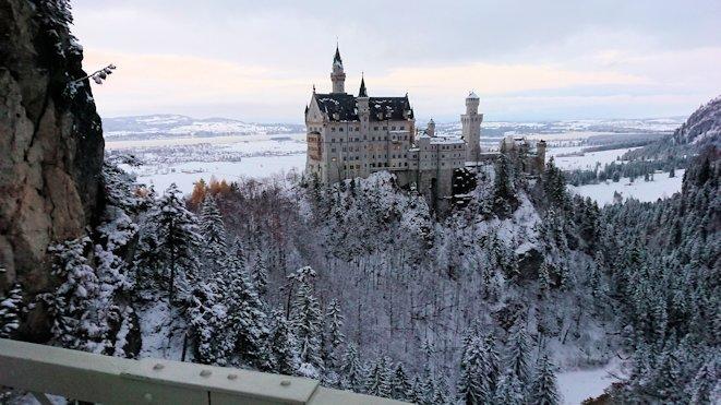 ノイシュバンシュタイン城の絶景