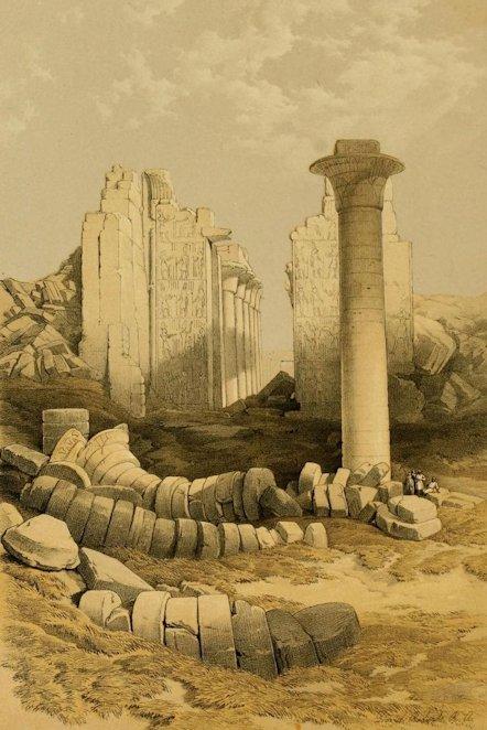 david-roberts-カルナック神殿