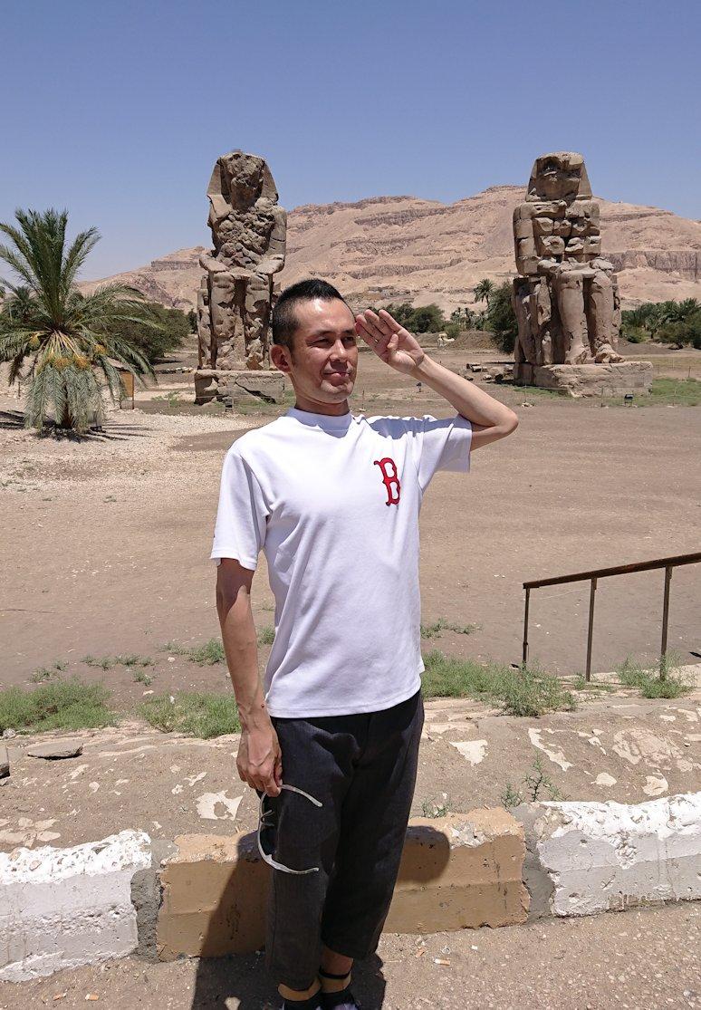 エジプト旅行 ブログ 口コミ メムノンの巨像
