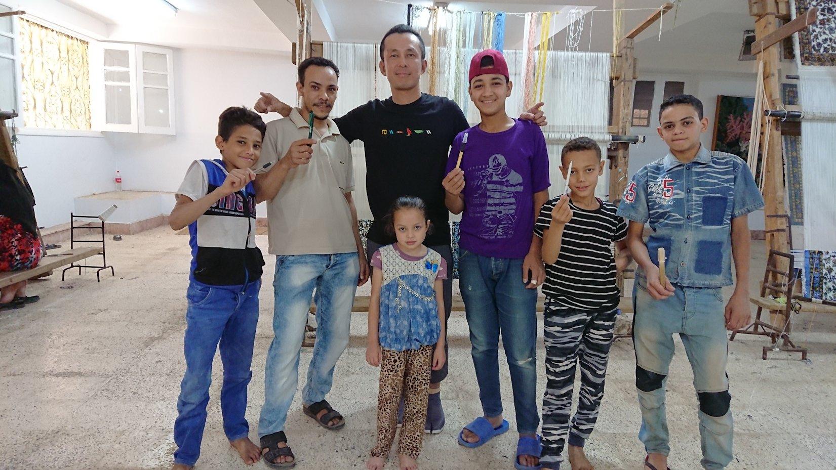 エジプト旅行 ブログ 口コミ カイロ じゅうたん工場