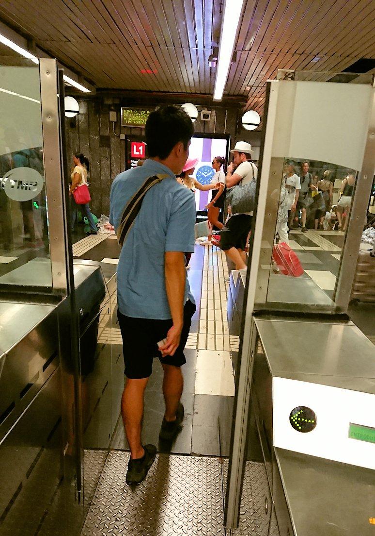 スペイン旅行 バルセロナ 日本旅行 カンプノウ 地下鉄