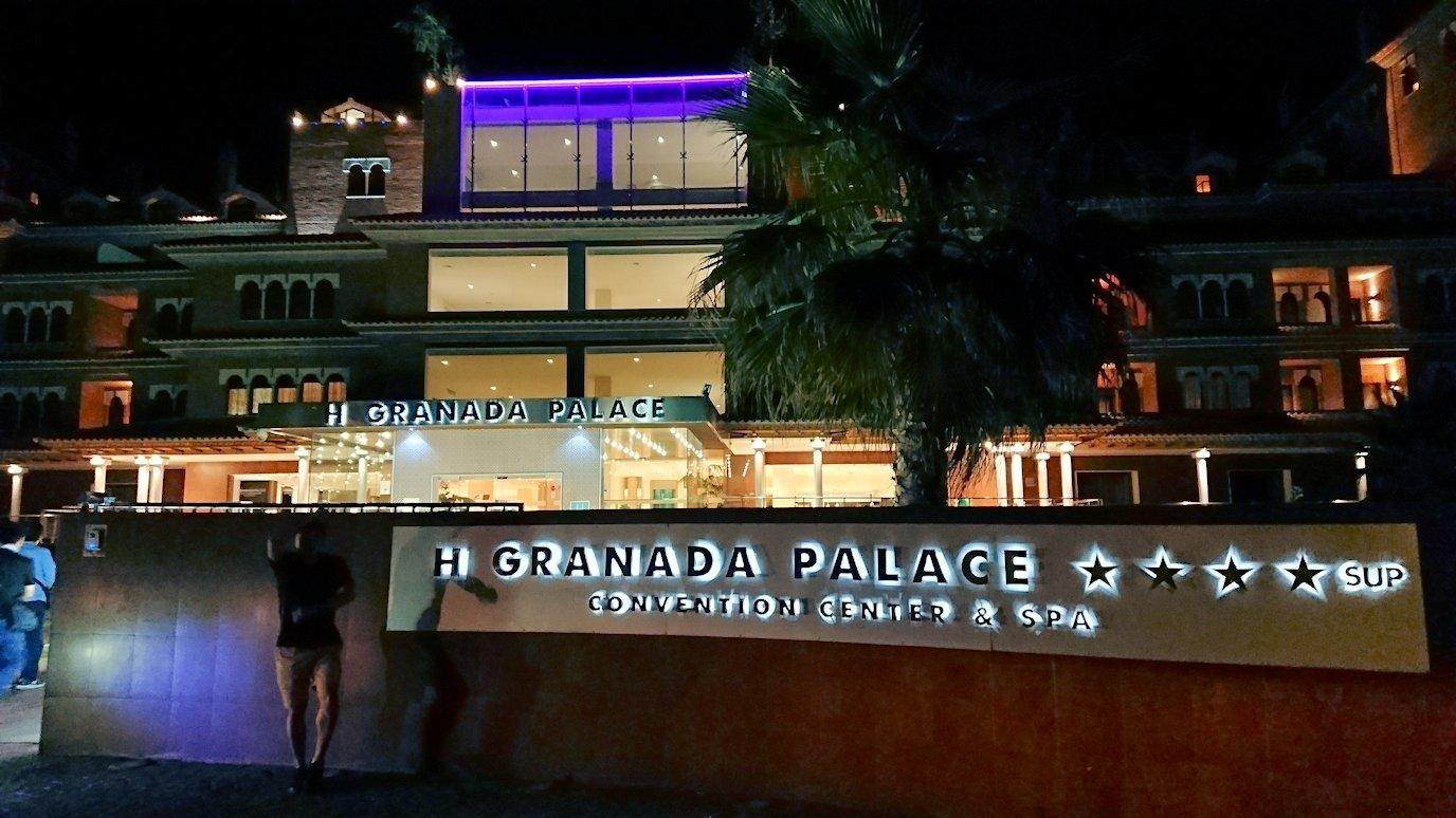 スペイン旅行 ツアー 観光 日本旅行 グラナダ アルハンブラ宮殿 グラナダパレス フラメンコ ショー 男性 女性 人気 ミニバス ホテル バー 夜景 ブログ 口コミ