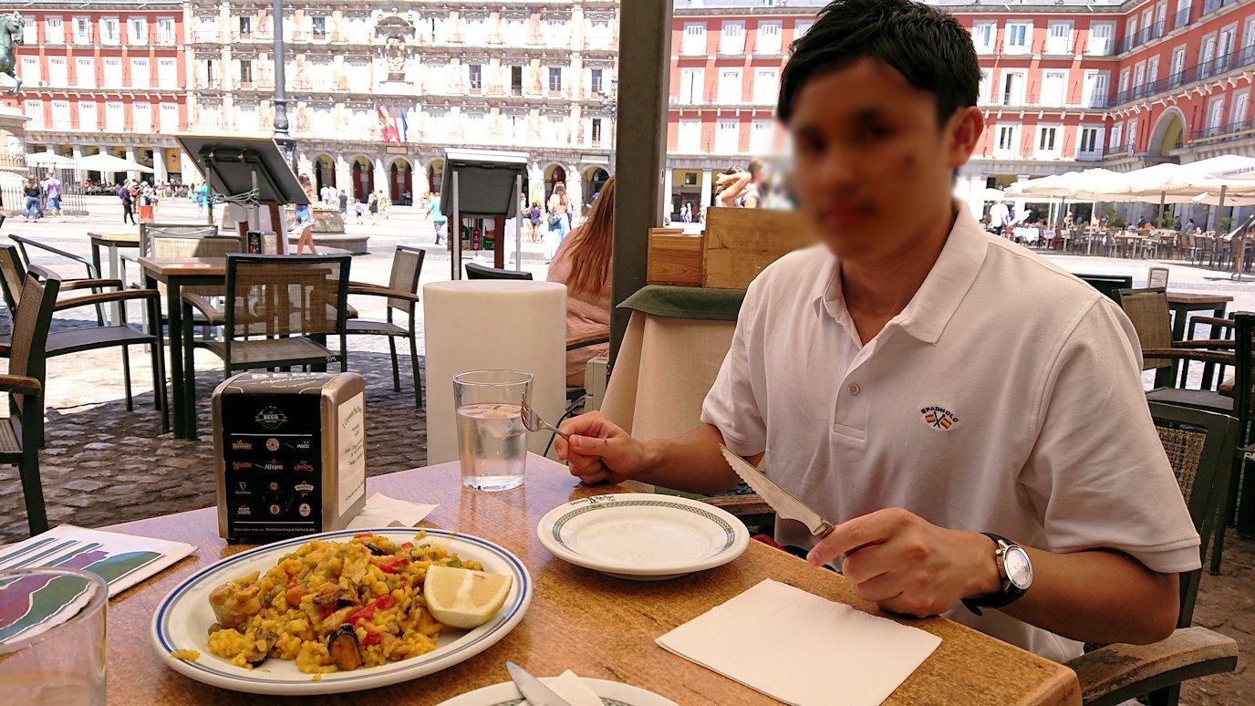 スペイン旅行 ツアー 観光 日本旅行 マドリード 昼食 バル マヨール広場 アヒージョ パエリア  お土産 感想 ブログ 口コミ