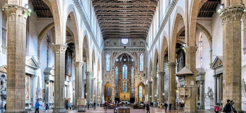 サンタ・クローチェ聖堂の内部
