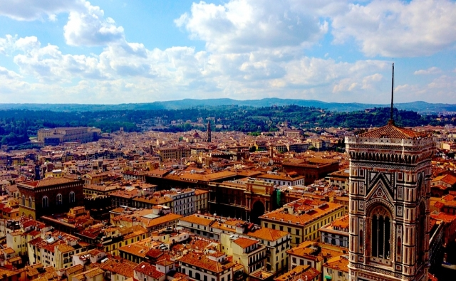 フィレンツェの大聖堂の屋上からの風景