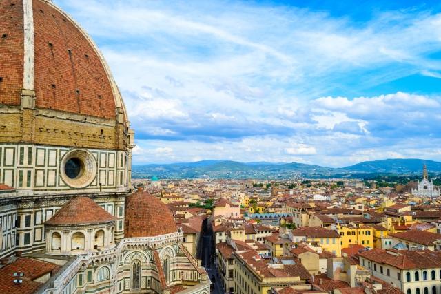 フィレンツェの大聖堂の風景