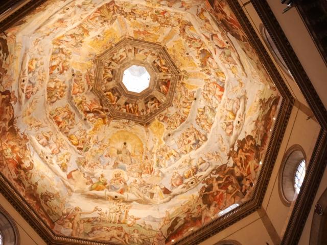 フィレンツェの大聖堂のクーポラ内部