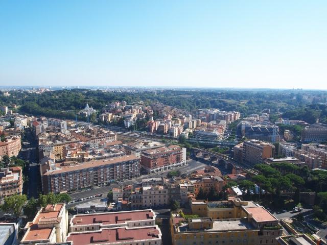 サンピエトロ大聖堂のクーポラからの眺め2