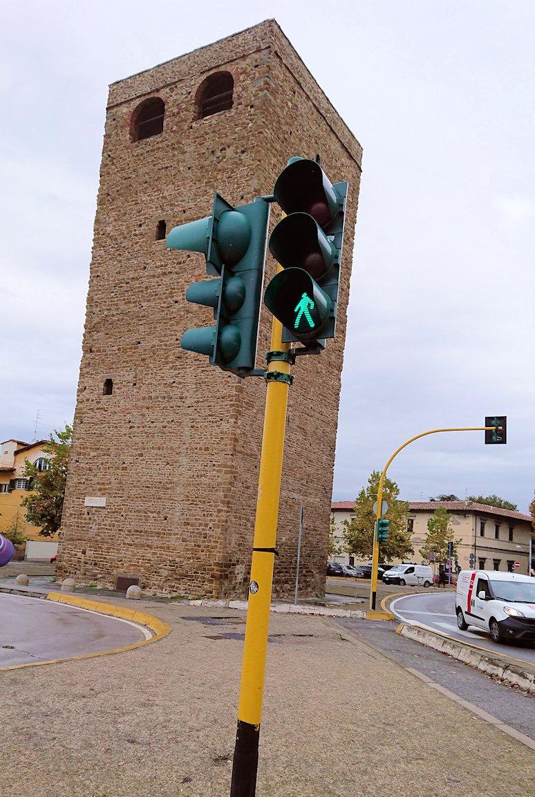 フィレンツェ市内に信号機