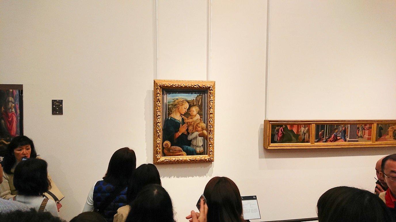 ウフィツィ美術館の聖母の絵