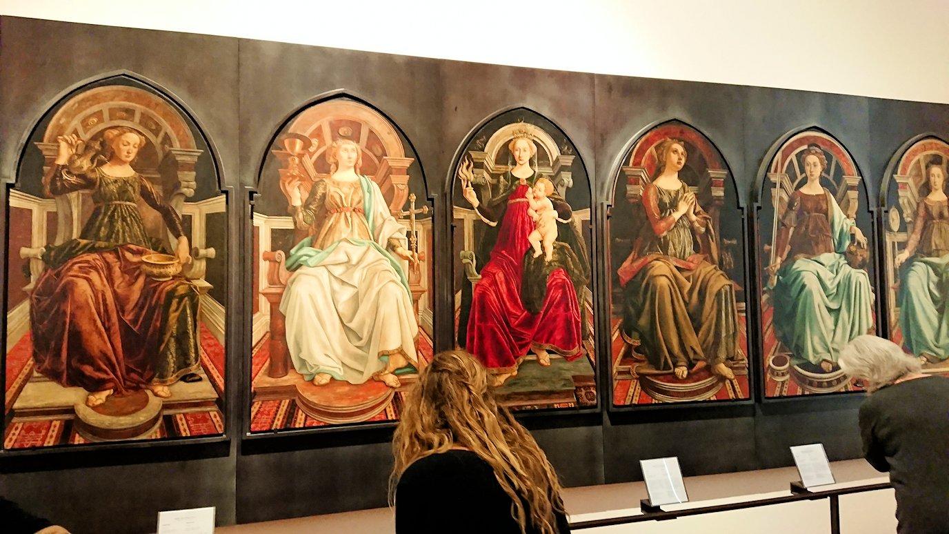 ウフィツィ美術館の有名な絵画群