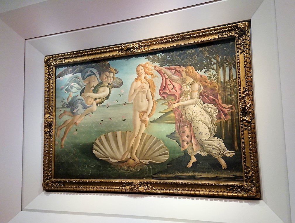 ウフィツィ美術館の有名な絵画ヴィーナス誕生