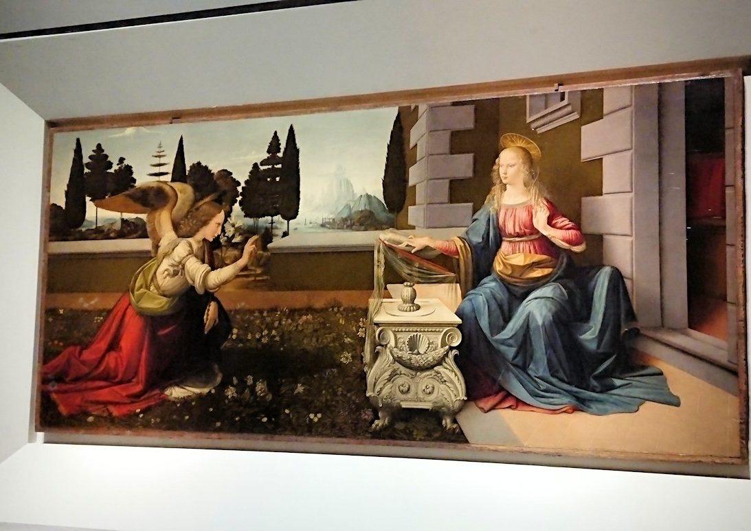 ウフィツィ美術館で受胎告知の絵とご対面2