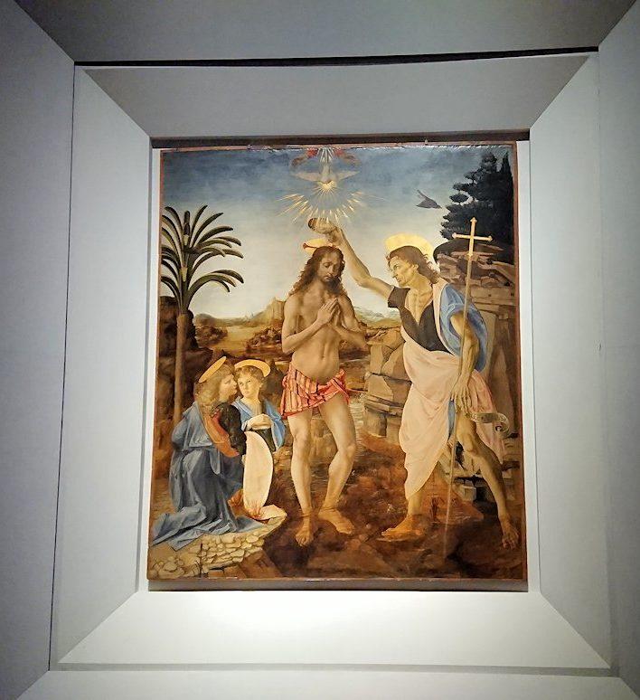 ウフィツィ美術館でダヴィンチの絵