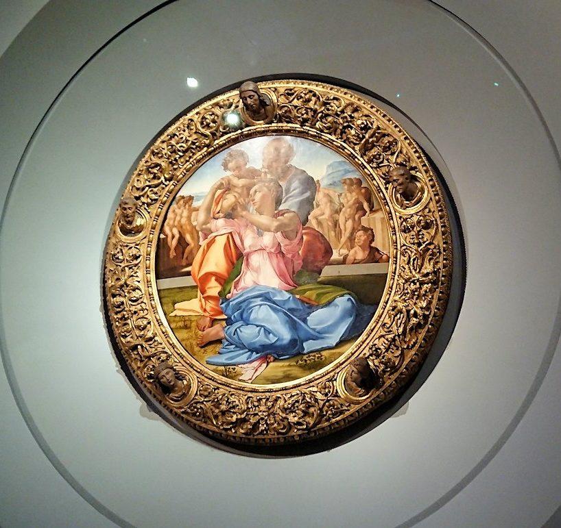 ウフィツィ美術館でミケランジェロの傑作と