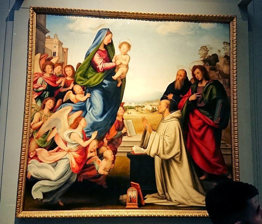 ウフィツィ美術館でマリアを描いたもの