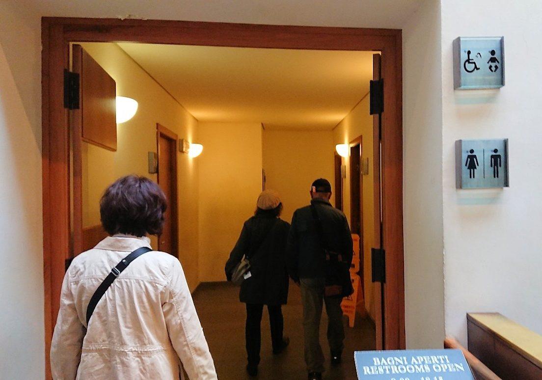 ウフィツィ美術館のトイレ