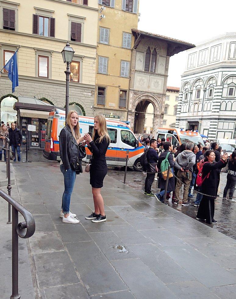 フィレンツェ大聖堂の搭付近