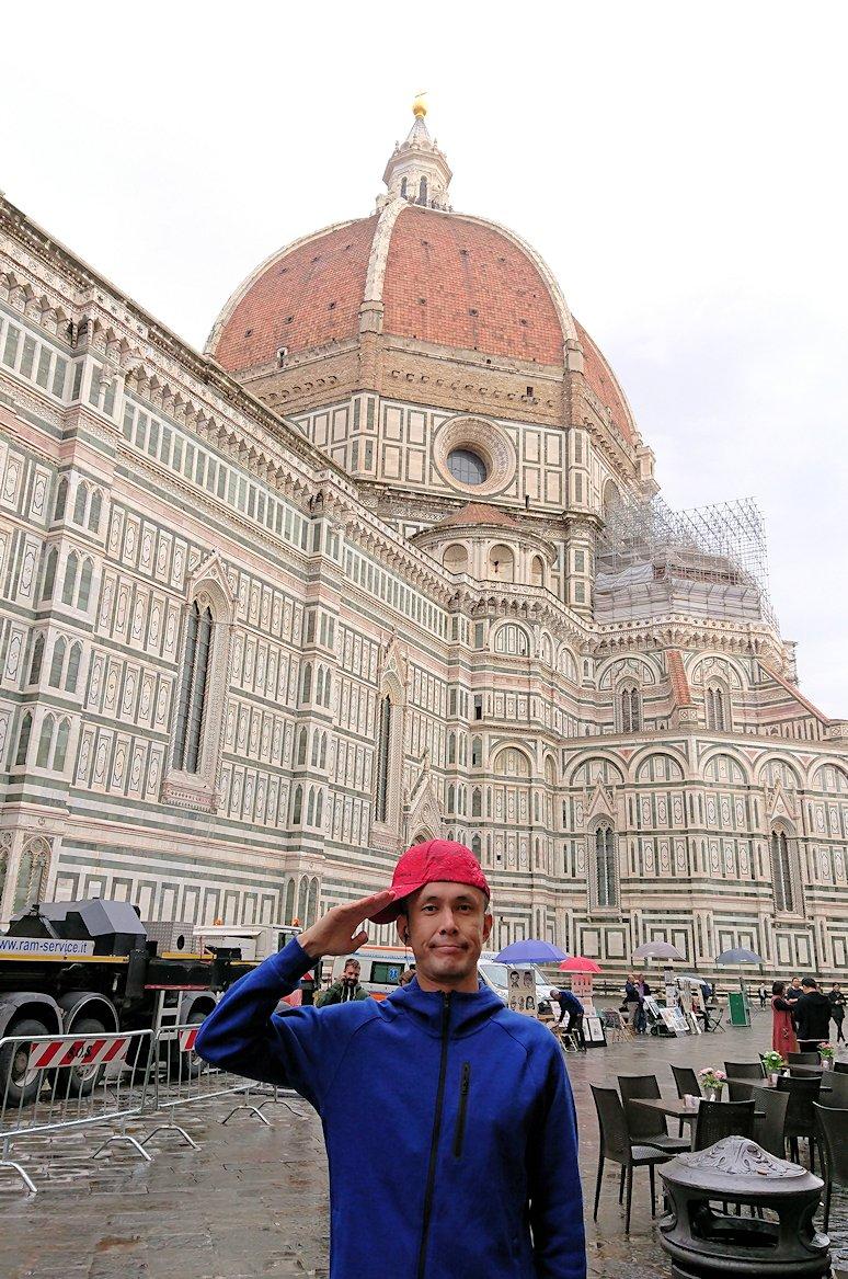 フィレンツェ大聖堂の前で記念撮影