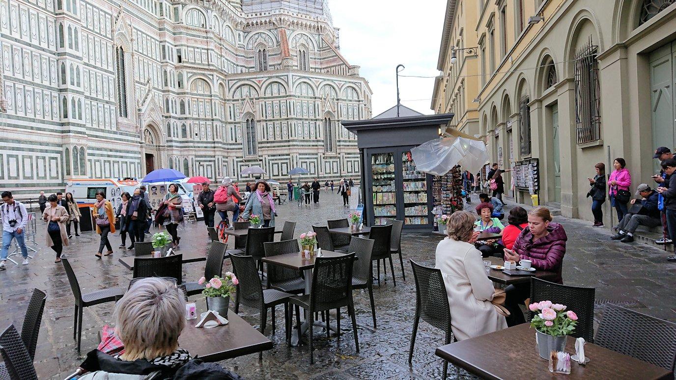 フィレンツェ大聖堂の前でのかふぇ