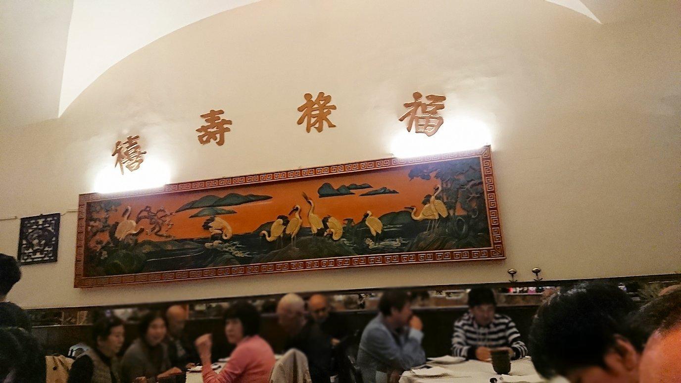 フィレンツェ市内の中華レストランの内部