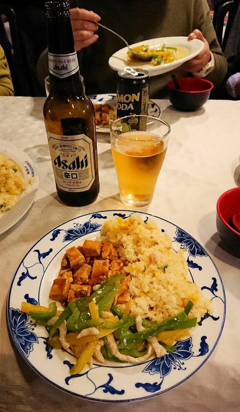 フィレンツェ市内の中華レストランでがっつり食べる