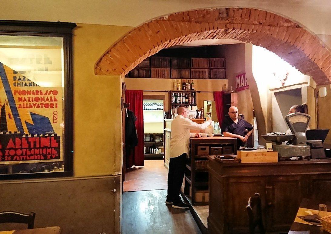 フィレンツェのレストラントに入る