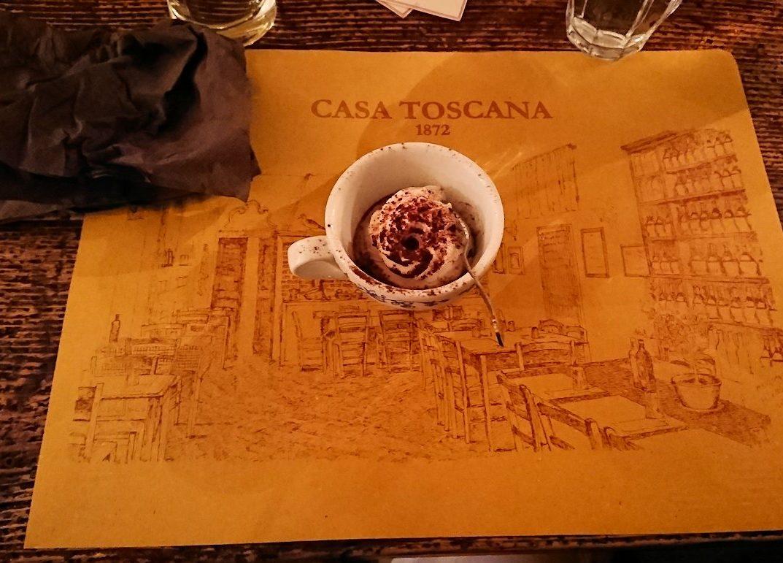 フィレンツェのレストランのアイス