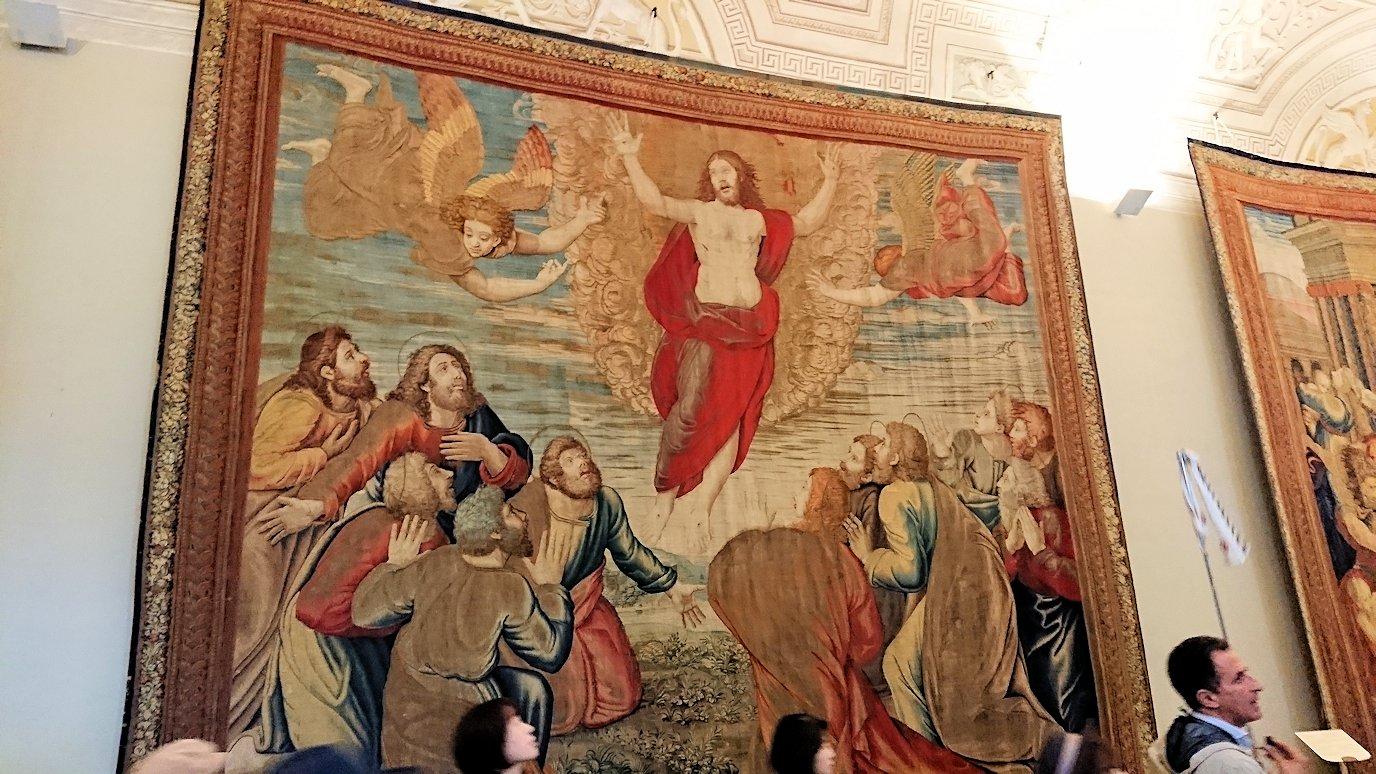 バチカン美術館のタペストリーのキリスト