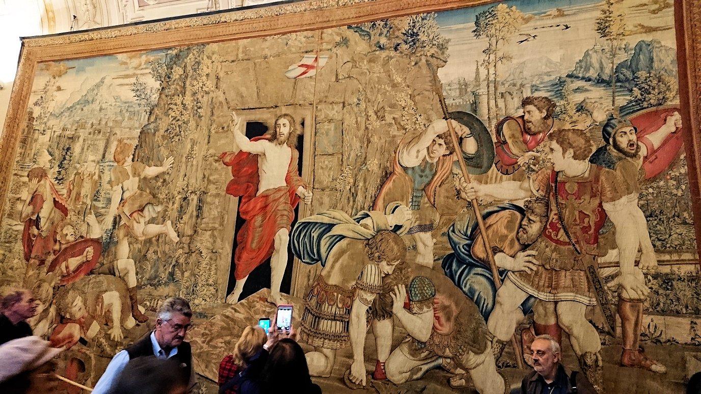 バチカン美術館のタペストリーの間のキリスト画2