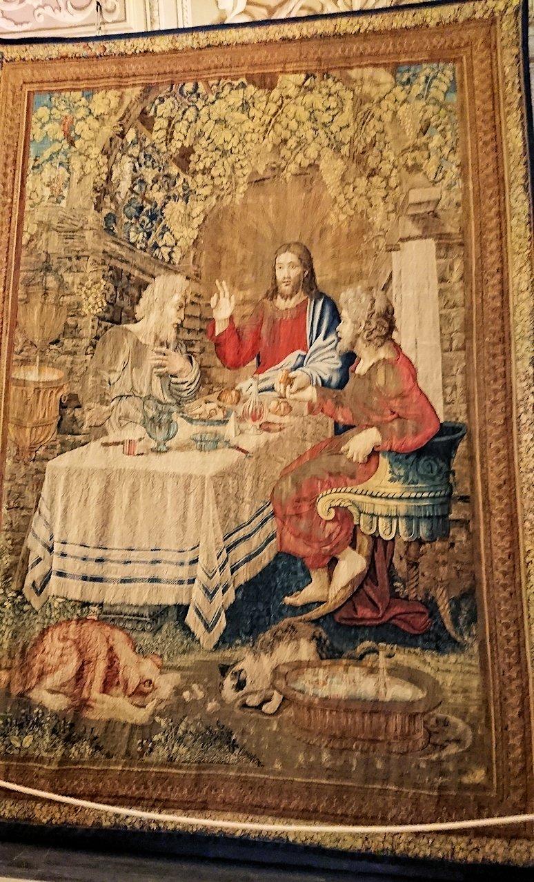 バチカン美術館のタペストリーの間のキリスト画4