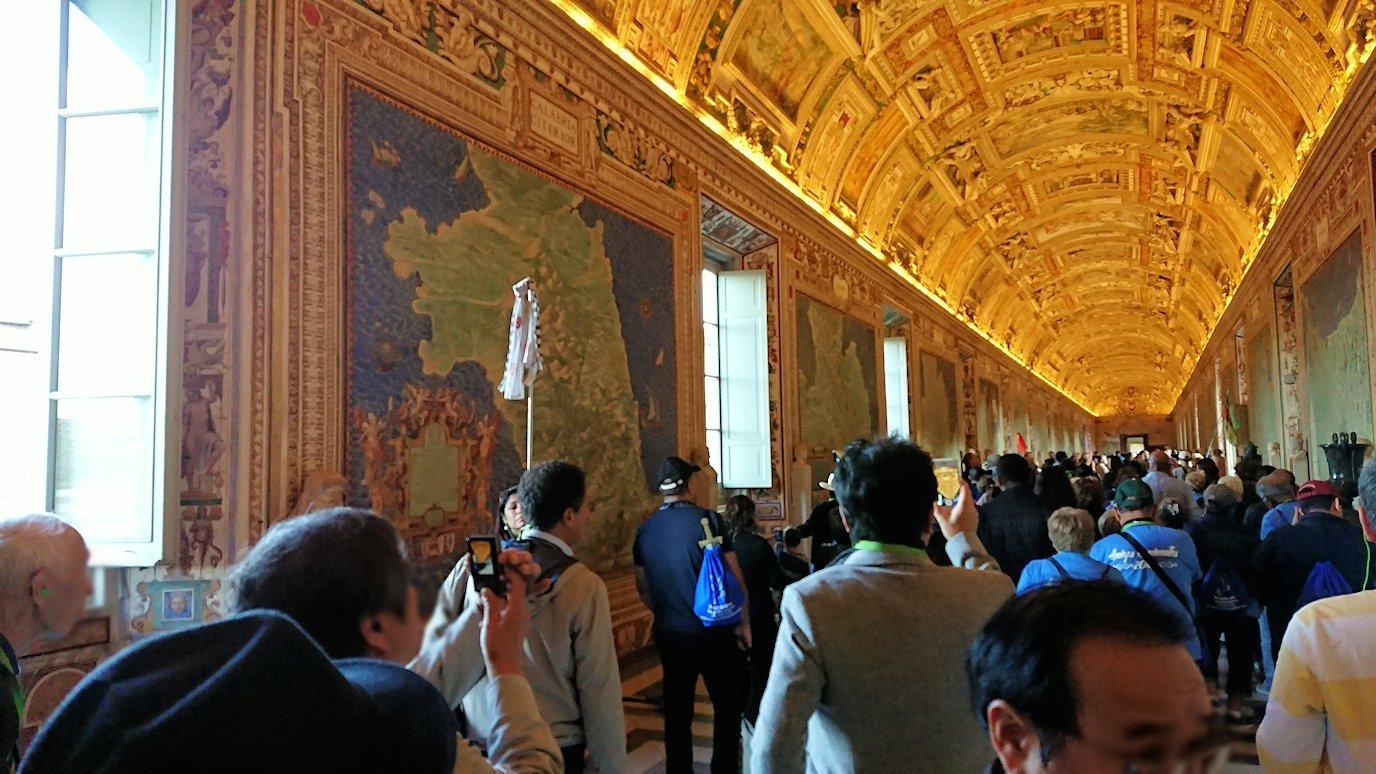 バチカン美術館の地図のギャラリーで見た地図2
