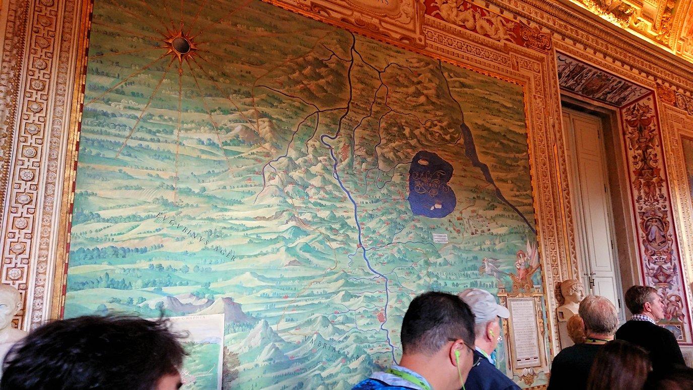 バチカン美術館の地図のギャラリーで見た地図3