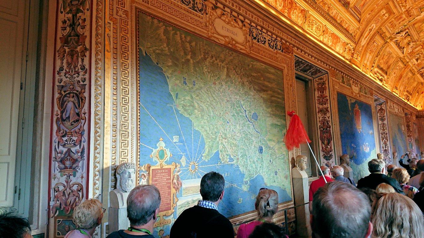 バチカン美術館の地図のギャラリーで見た地図4