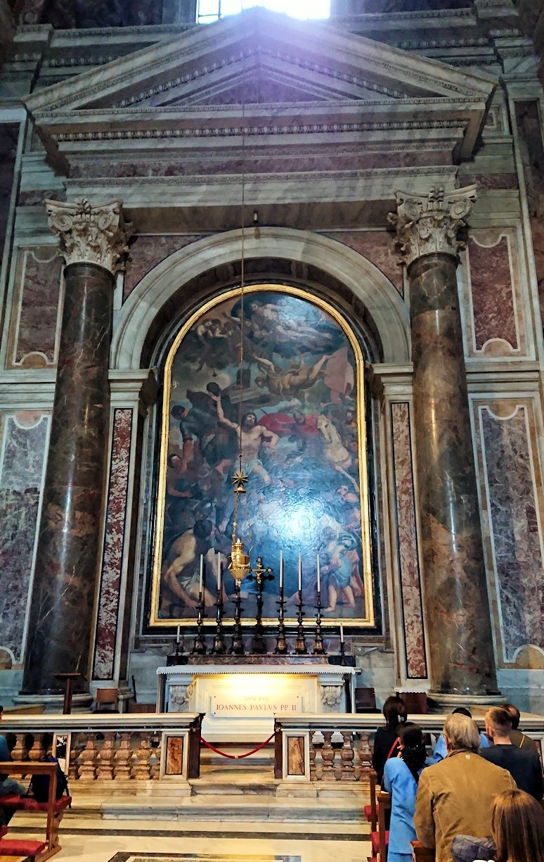 サンピエトロ大聖堂の構内の絵