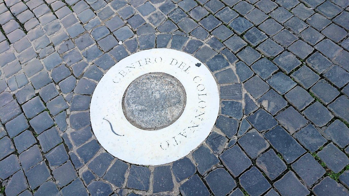 サンピエトロ広場にあるベルニーニポイント