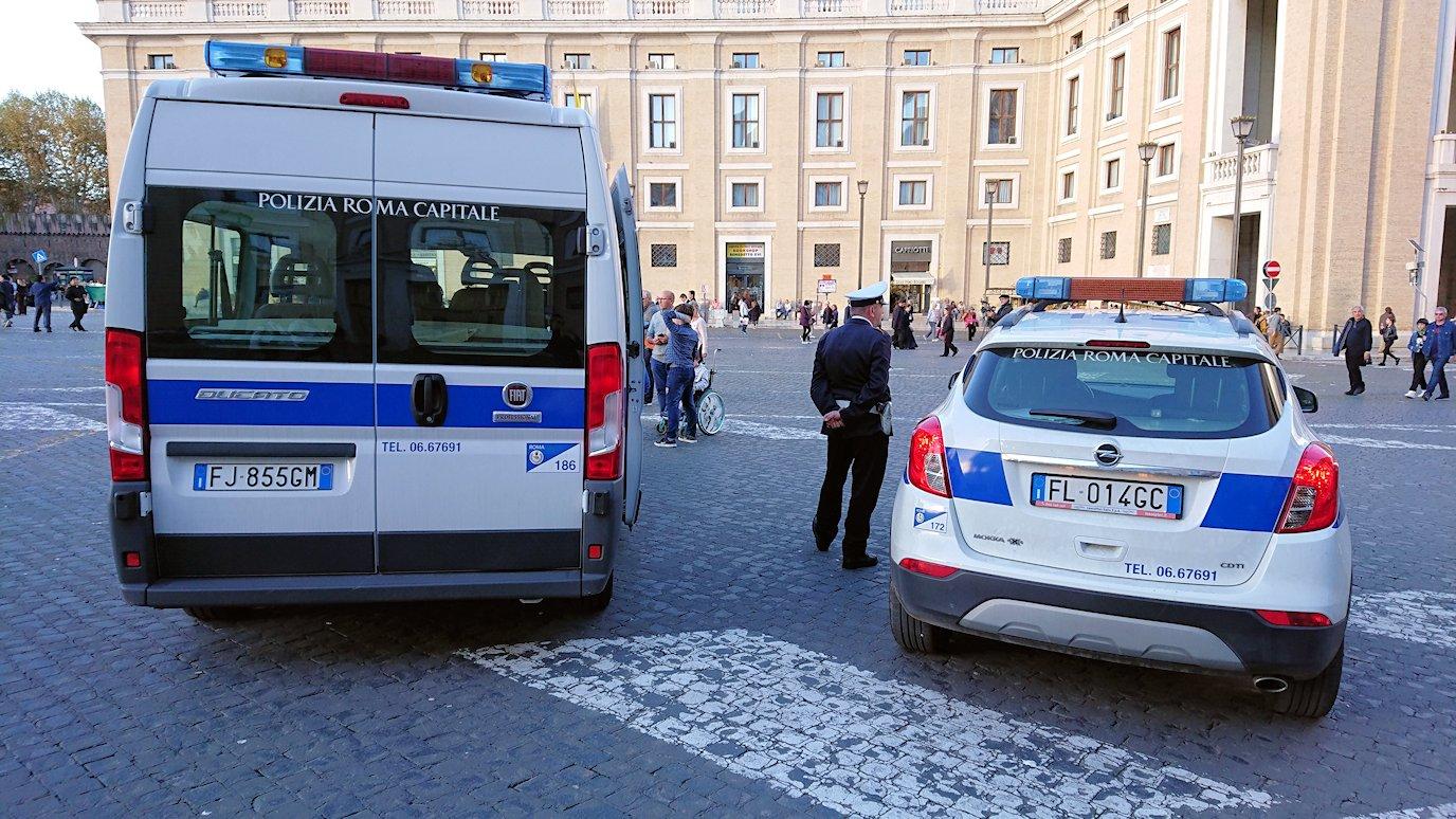 バチカン市国を警備する警官
