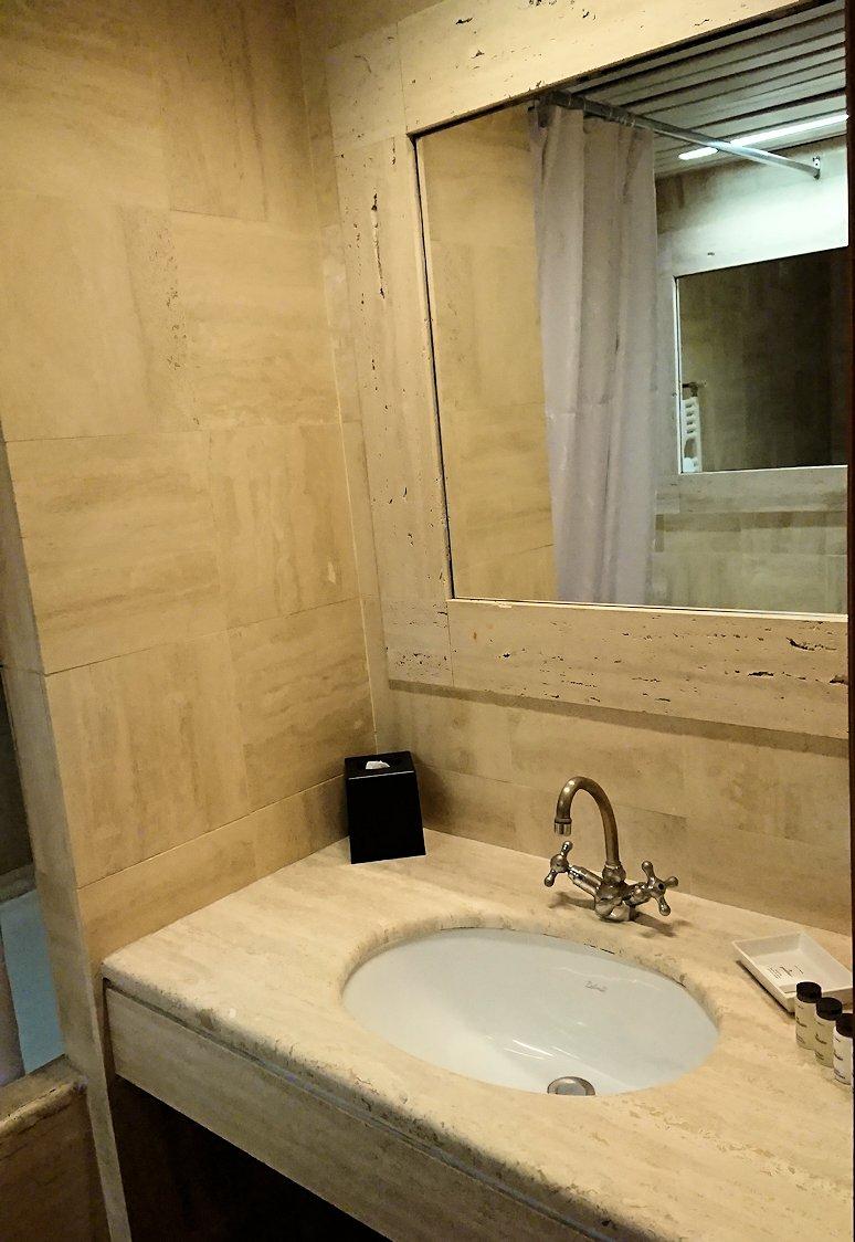 ローマシェラトンホテルの部屋の洗面台