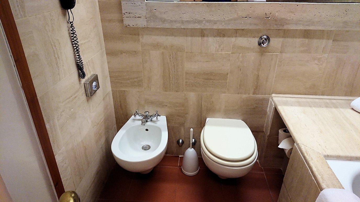 ローマシェラトンホテルの部屋のトイレ
