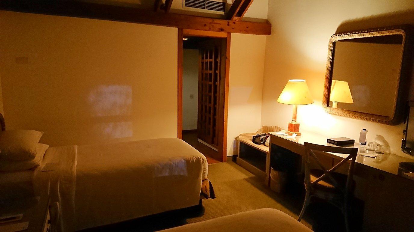 ローマシェラトンホテルの部屋の様子