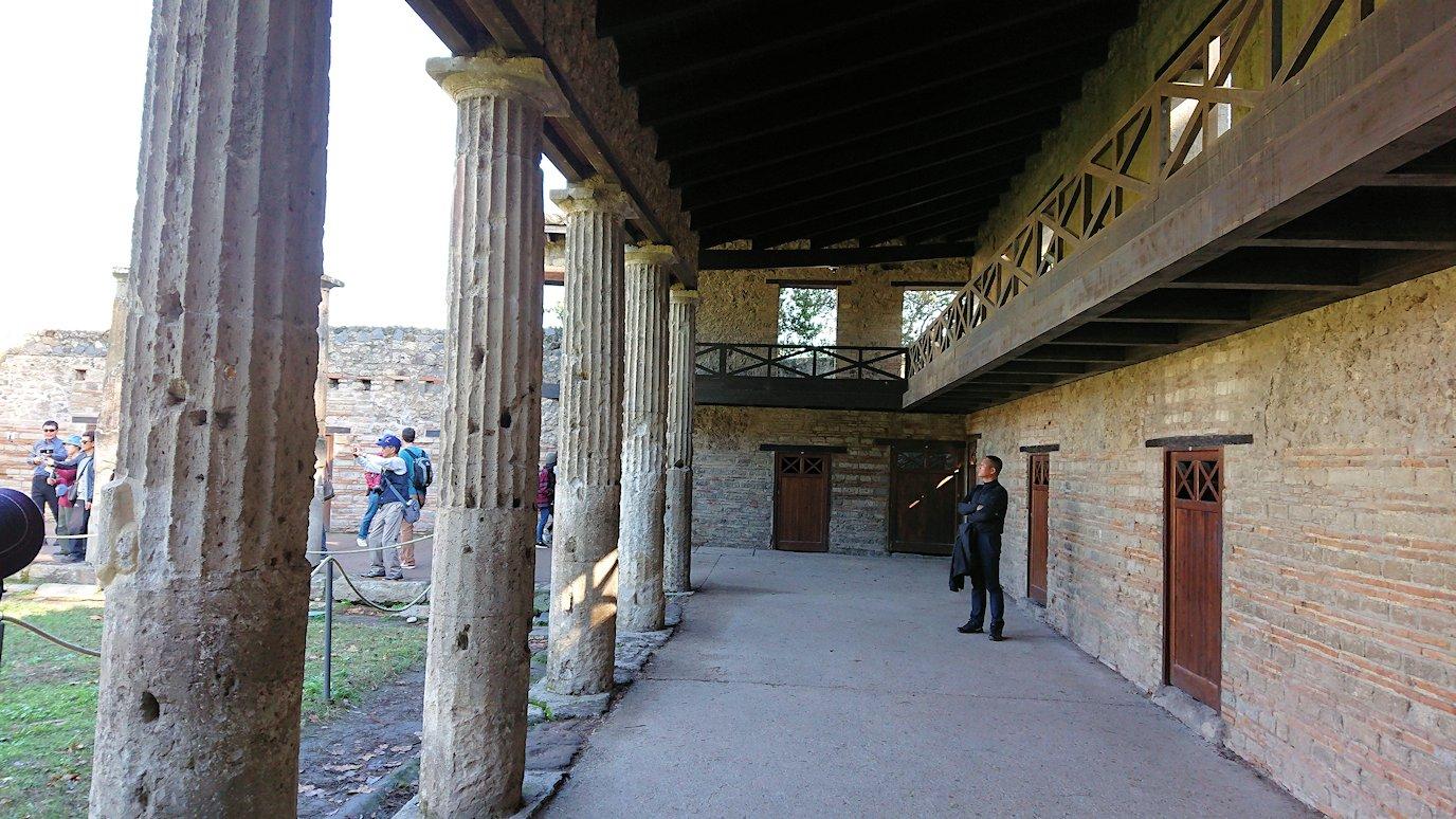 ポンペイ遺跡にあった柱の様子3