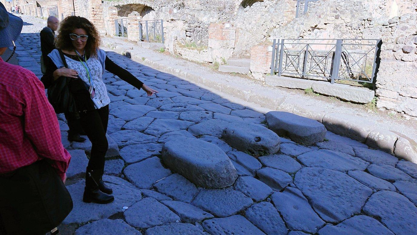 ポンペイ遺跡の道の石