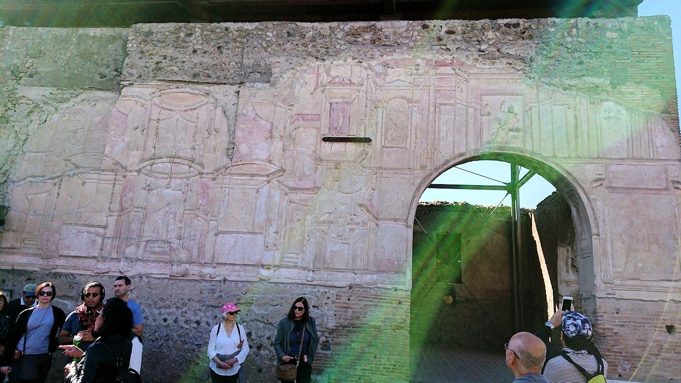 ポンペイ遺跡の大浴場の建物