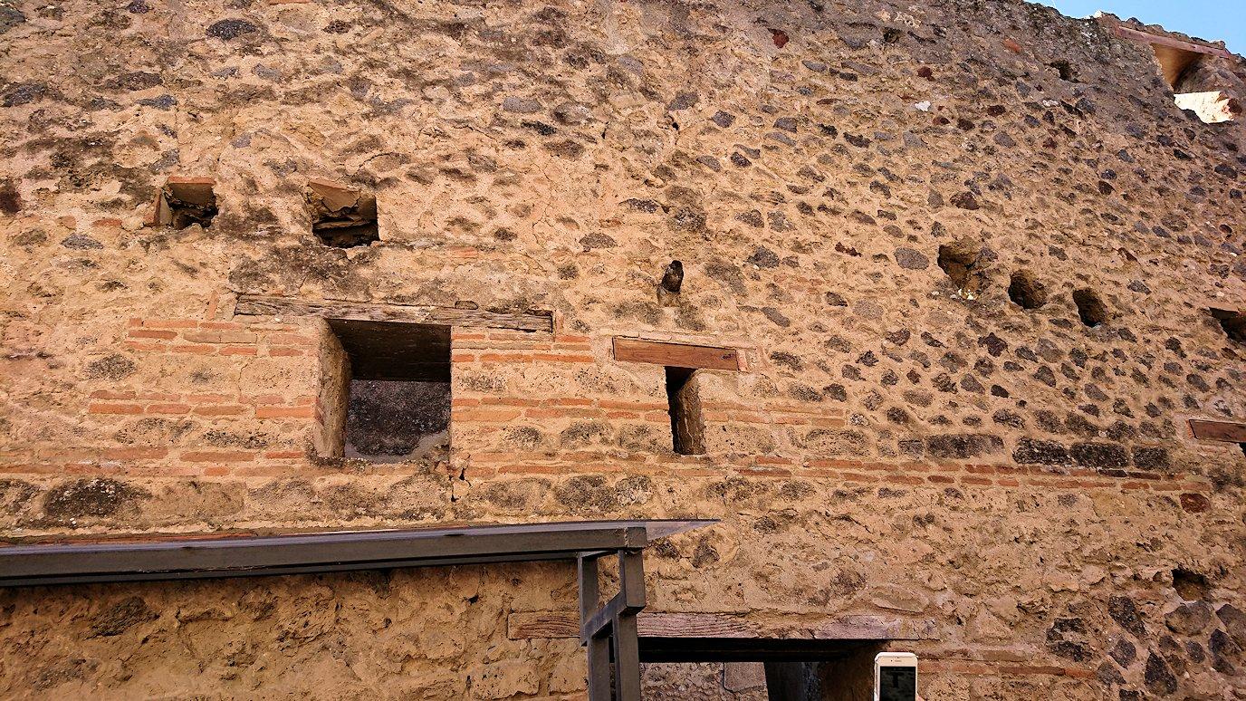 ポンペイ遺跡の飾り窓地域