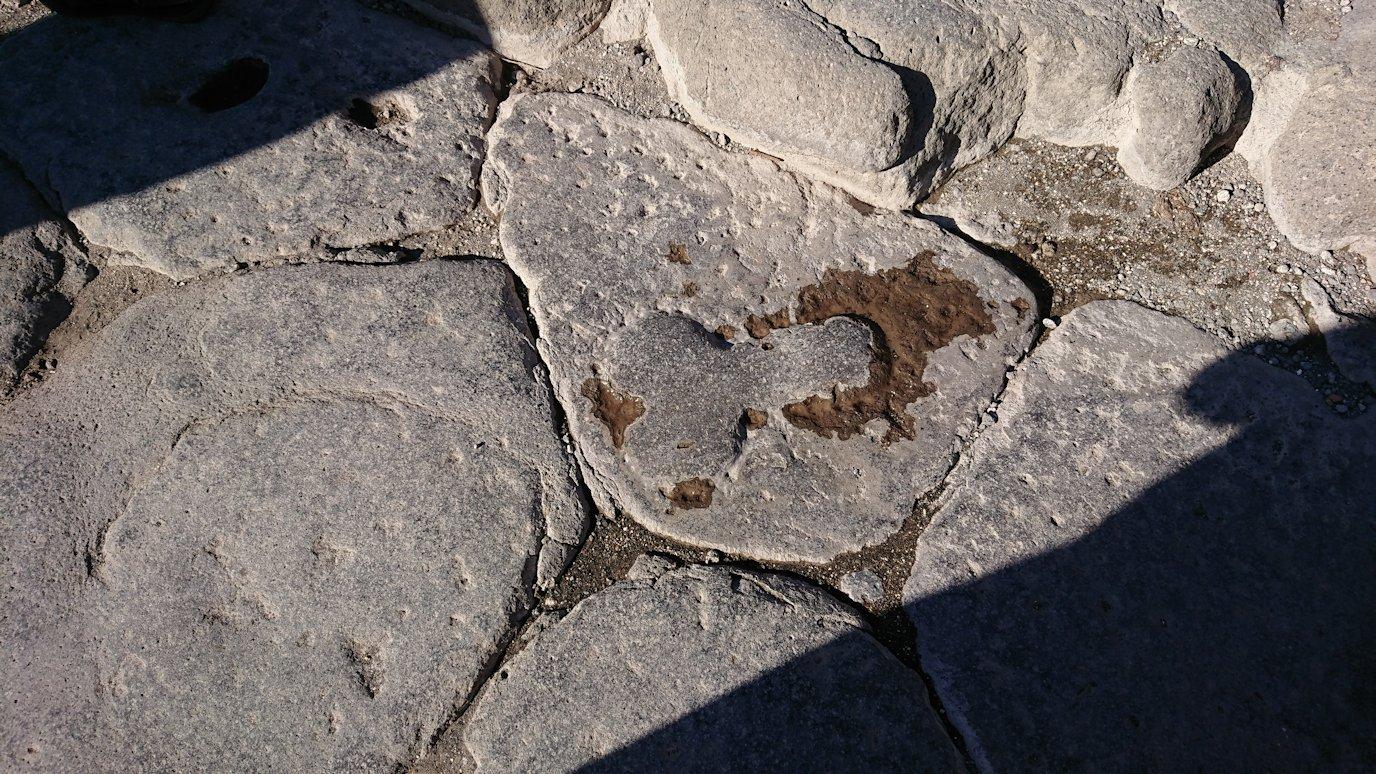 ポンペイ遺跡の娼婦館の道標