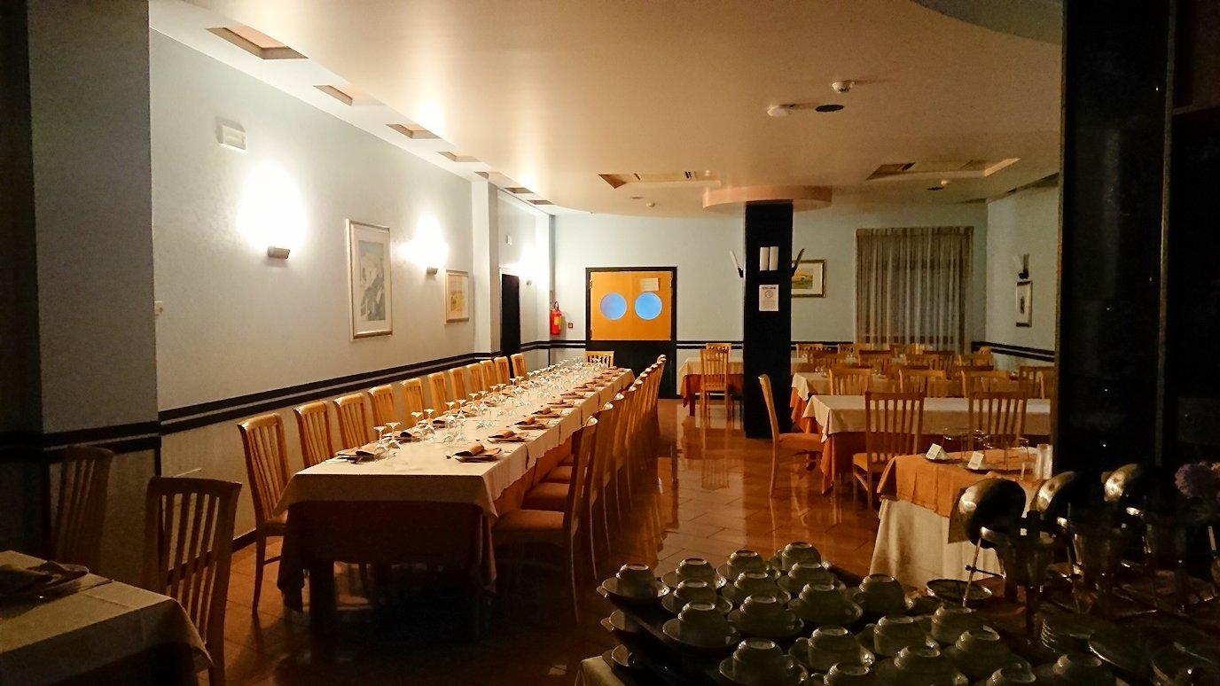 アルベロベッロのホテルの食堂