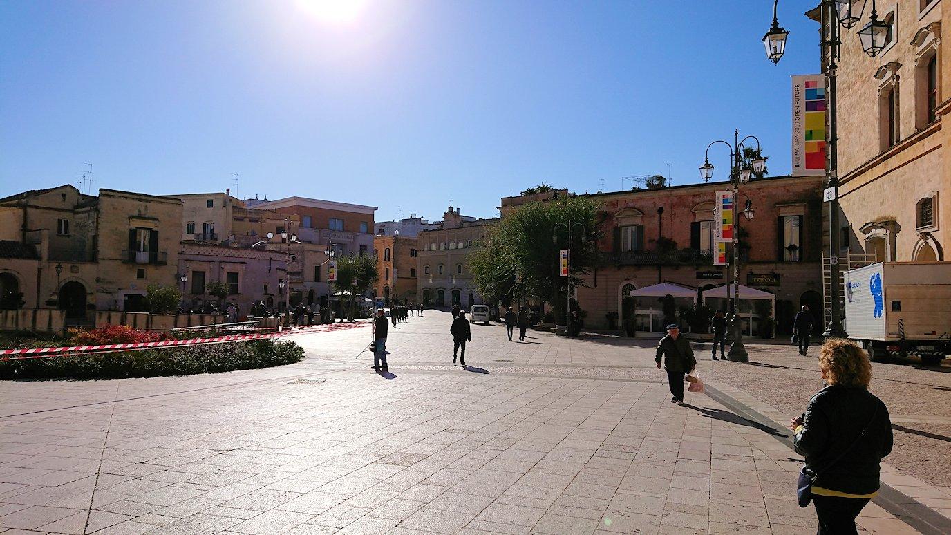マテーラの街の中心部の広場に到着