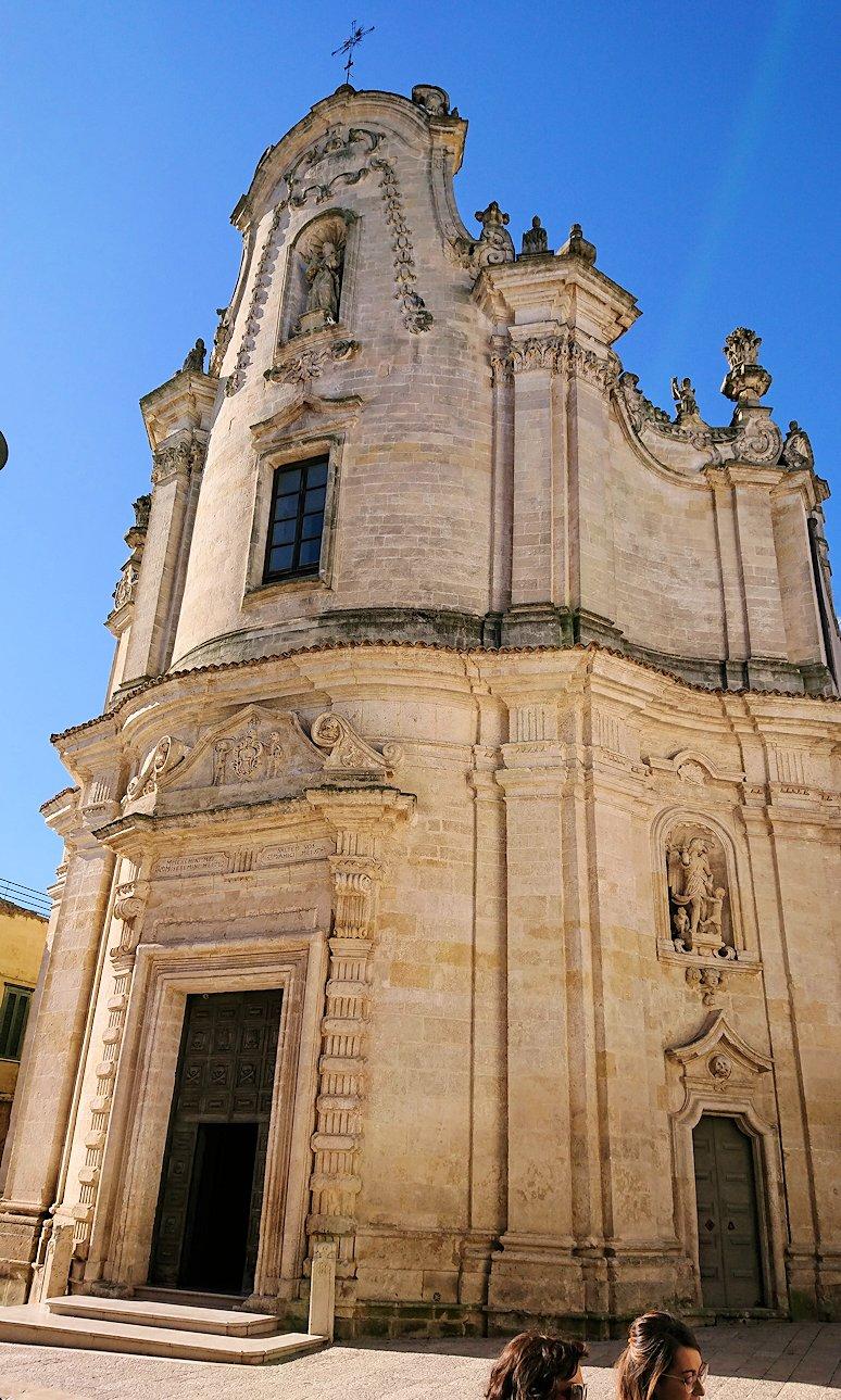 マテーラの街の中心部からコルソ通りの別の教会