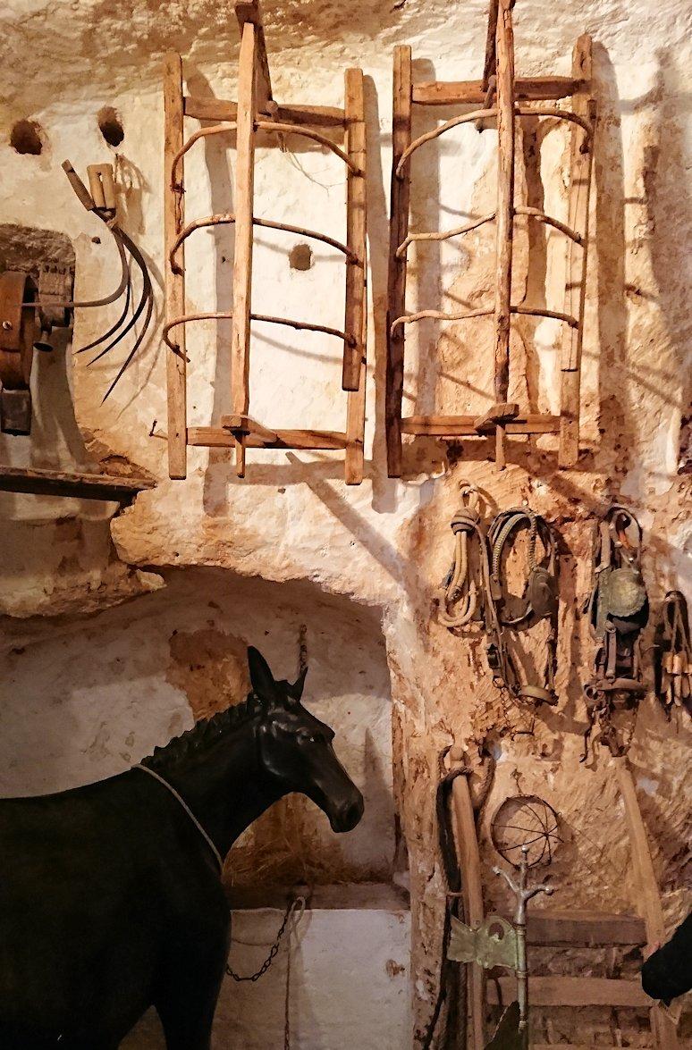 マテーラの洞窟住居の内部を見学3